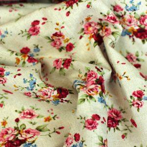 Sweet flowers-linnen viscose