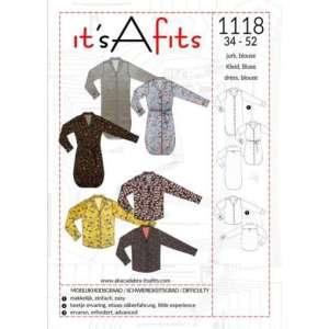 Naaipatroon 1118 voor blouse en hemdjurk