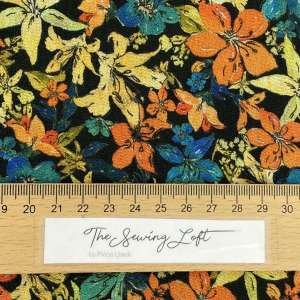 Autumn flower splash- viscose