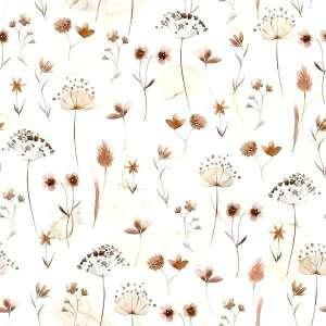 Pressed flowers-katoen tricot