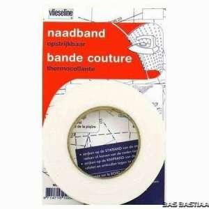 Naadband Wit opstrijkbaar 1 cm breed – rol 12,5m