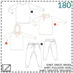 3x shirts en broek patroon kids- Abracadabra #180