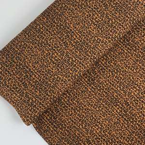 Panter- viscose printed plissé