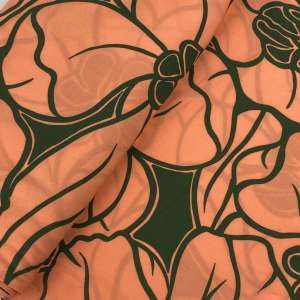 Coral flower-viscose