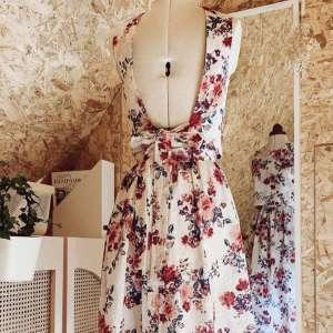 Embroidery flowers- katoen