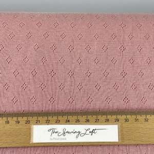 Tuscany pink- Pointelle tricot