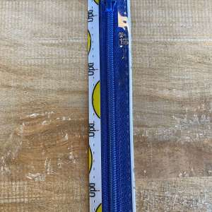 Broek rits 15cm elektrisch blauw col 0215