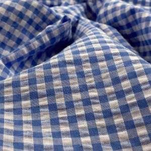 Blue Vichy- Seersucker