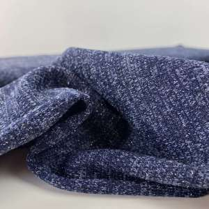Indigo- jacquard tricot