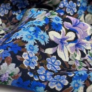 Bright blue flowers- viscose
