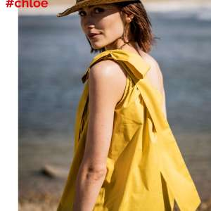 Chloe Yellow- katoen stretch