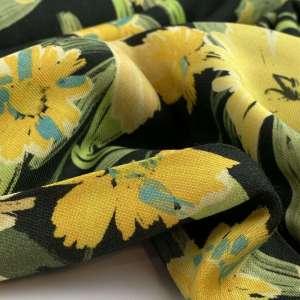 Yellow summer flowers- viscose