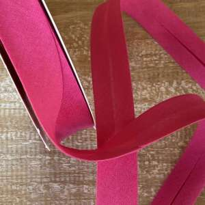 Hot pink- popeline biais
