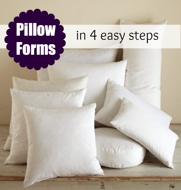 pillow form insert printable size chart the sewing loft