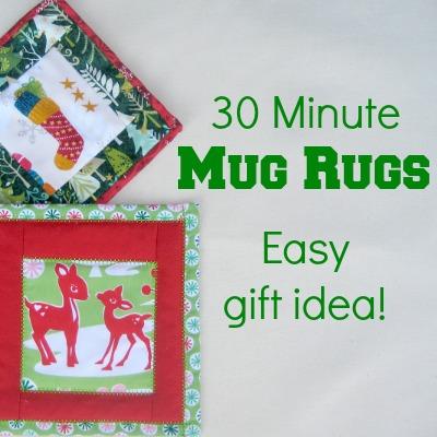 Holiday Mug Rug The Sewing Loft