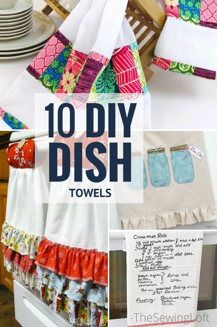 10 Awesome DIY Dish Towel Patterns The Sewing Loft
