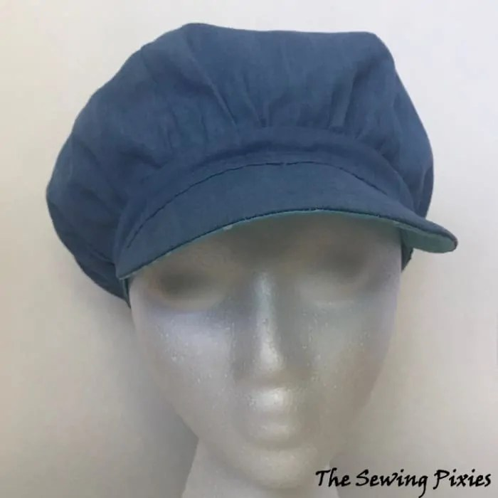 7709f588b How To Sew A Reversible Newsboy Hat - The Sewing Pixies