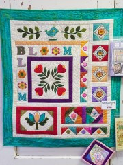 """Our Spring Embroidery Retreat is doing this """"Patches of Sping"""" quilt."""