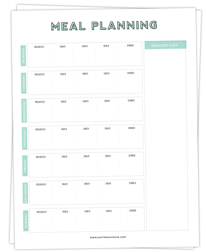 My Top 5 Meal Planners - Free Printable | The Sewist