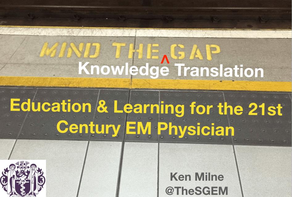 SGEM Xtra: Mind the Knowledge Translation Gap