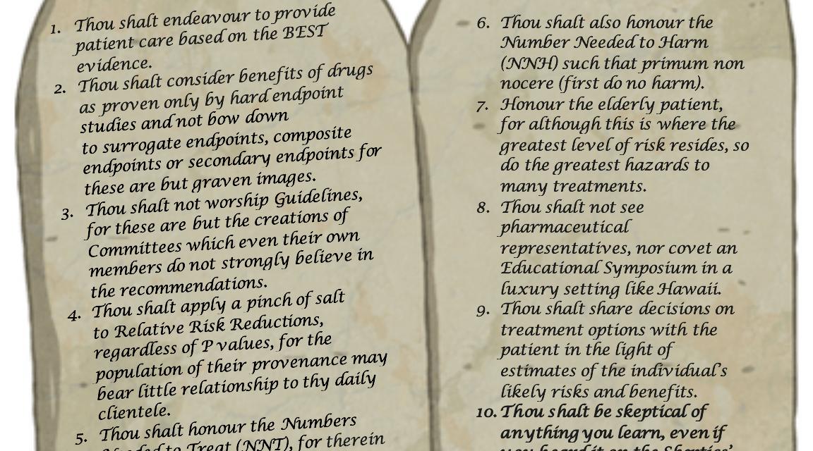 SGEM#10: Ten Commandments of Evidence-Based Medicine