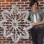 Diy Plastic Hanger Snowflake The Shabby Tree