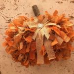 Diy Dollar Tree Rag Pumpkin Wreath The Shabby Tree