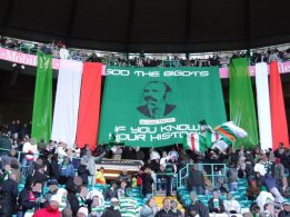 Michael Davitt  Sod the Bigots banner