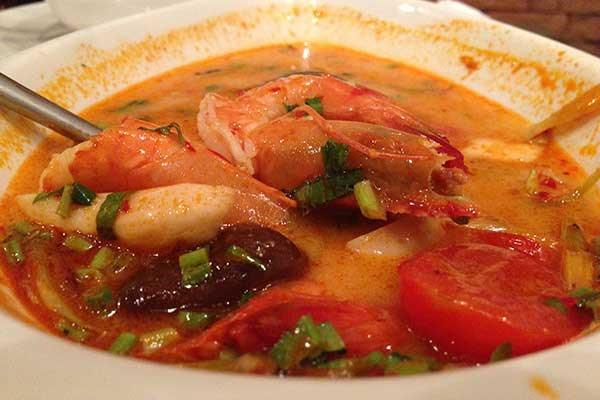 Tom Yum Goong at Lemon Grass