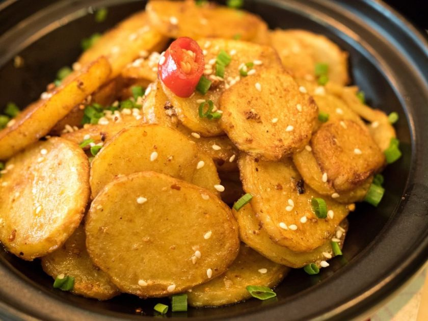 Potato Medallions with Cumin and Spices