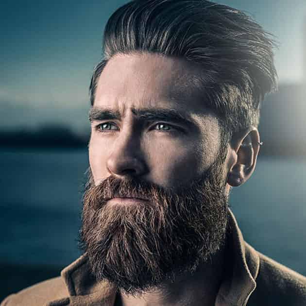 Full Long Beard with Medium Hair
