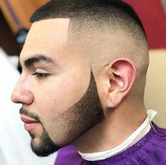 Goatee with fade beard