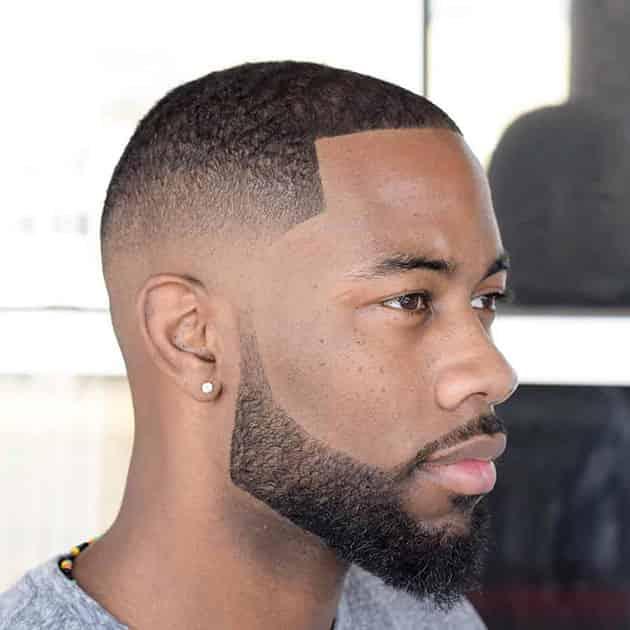Short Beard with Carved Hair