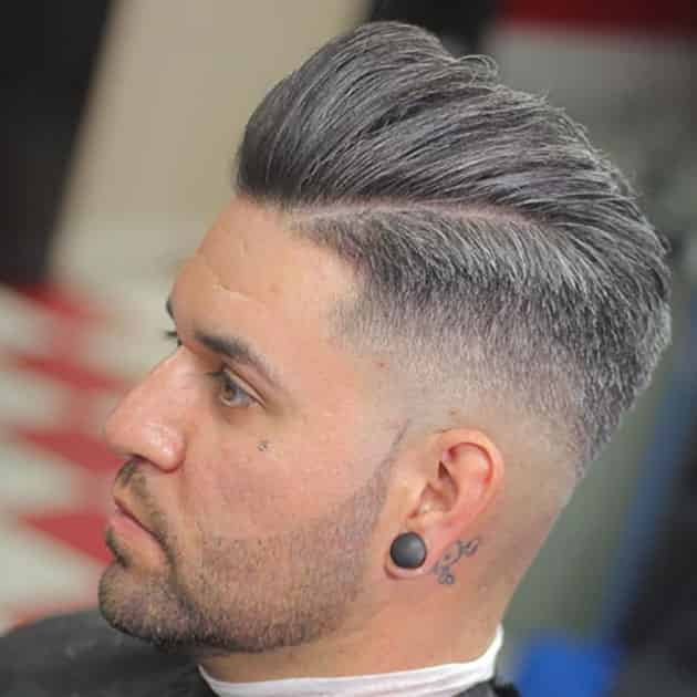 Short Curved Beard With Fade Hair