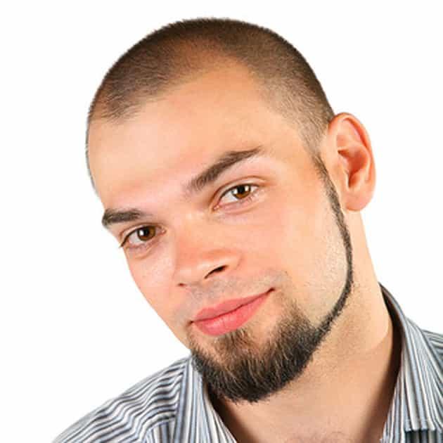 chin strap thick beard style