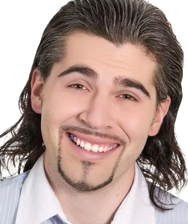 thin chin strap beard with long tilt