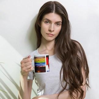 The She Cried promotional mug