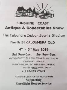 Sunshine Coast Antiques & Collectables Show @ Caloundra Indoor Sports Stadium