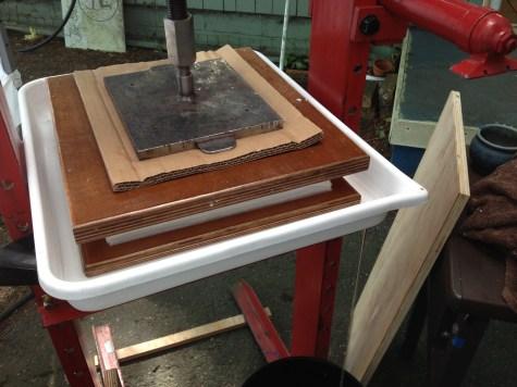 Our new hydraulic press