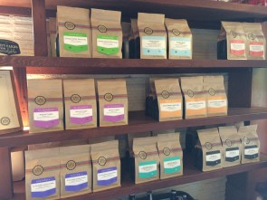 Olympia Coffee Roasting Co.'s new bags and labels.
