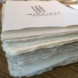 Stacks of handmade paper!