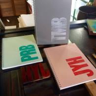 Wood Type Monogram Notebook perk!