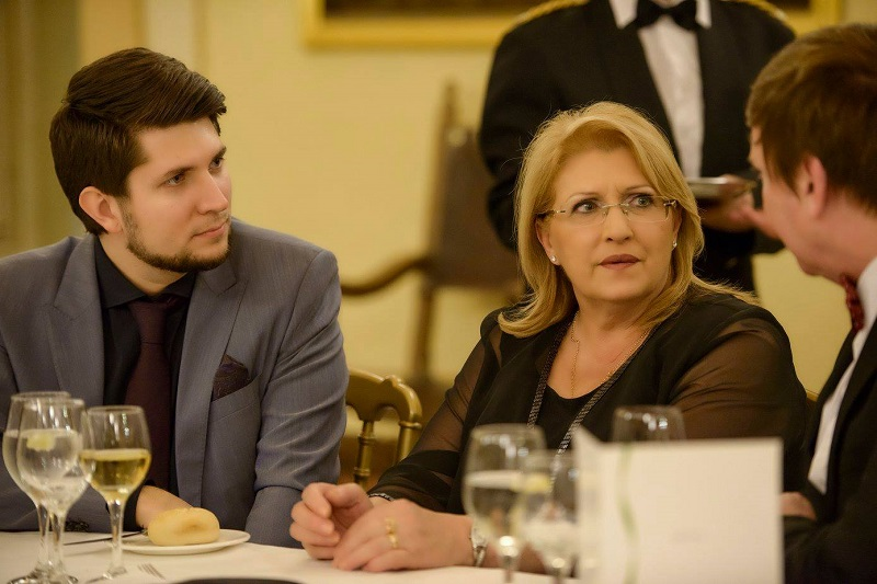 President Marie Louise Coleiro Preca with Exante CEO Alexey Kirienko (left) and Communications Director Patrick J O Brien