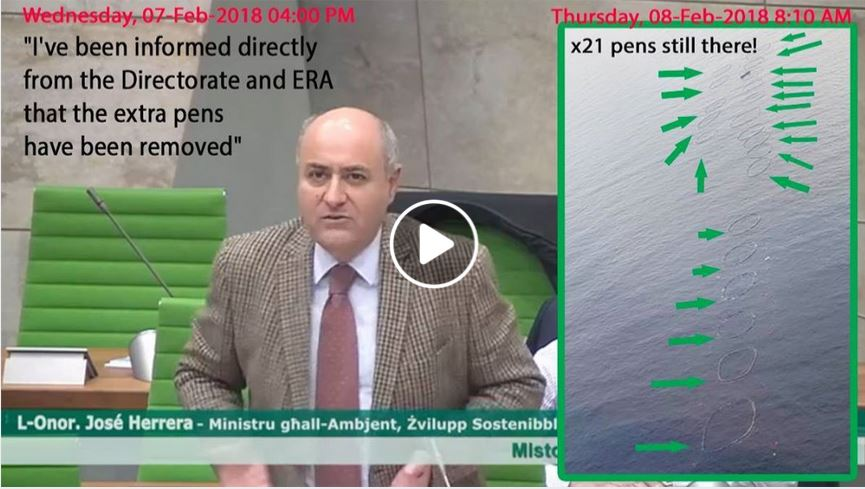 Malta Environment Minister Jose Herrera tuna farms