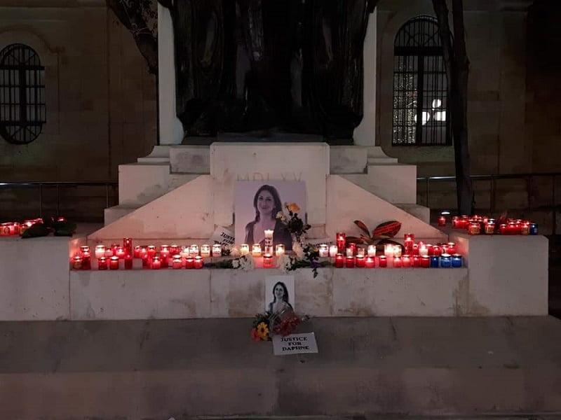 Daphne Caruana Galizia protest memorial 14 months