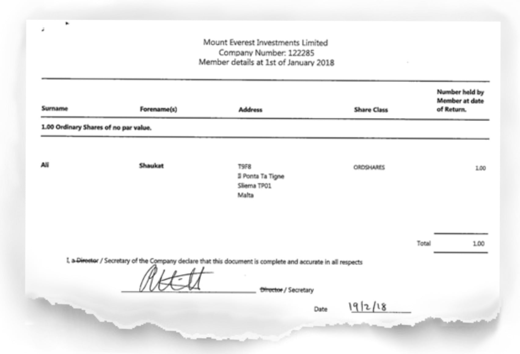 The Shift News had previously shown how Shaukat Ali owned one of the Jersey companies called Mount Everest