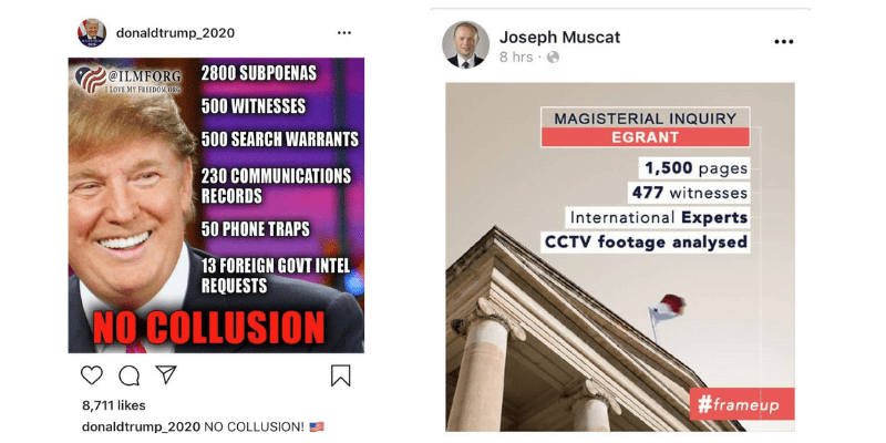 Trump Muscat No Collusion Frame Up