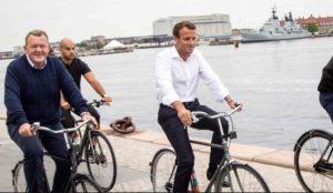 Le Président Emmanuel Macron lors d'une visite au Danemark