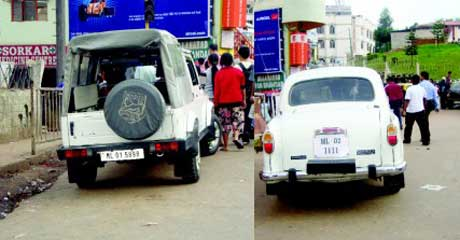 Govt. Vehicles Breaking Parking Rules Shillong