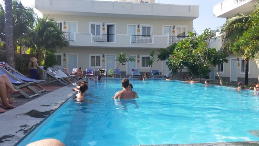 The pool at Mui Ne Backpacker Village
